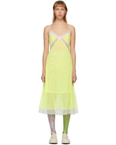 Кружевное белое платье макси с вышивкой Marc Jacobs