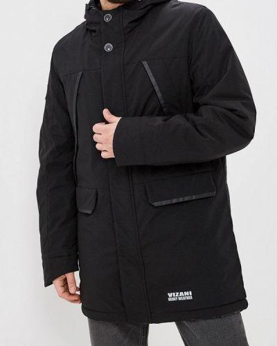Утепленная куртка демисезонная черная Vizani