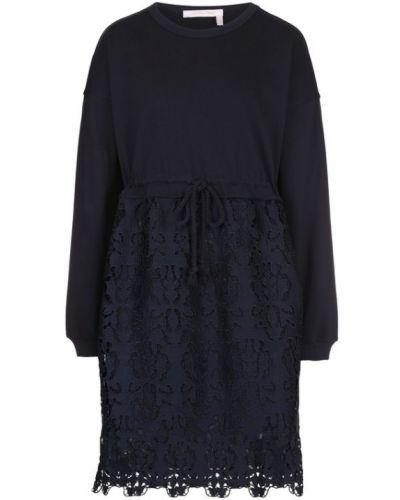 Платье мини с длинными рукавами приталенное See By Chloé