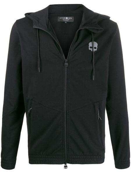 Czarna kurtka z kapturem bawełniana Hydrogen