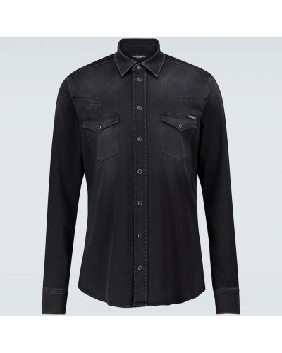 Джинсовая рубашка - черная Dolce & Gabbana