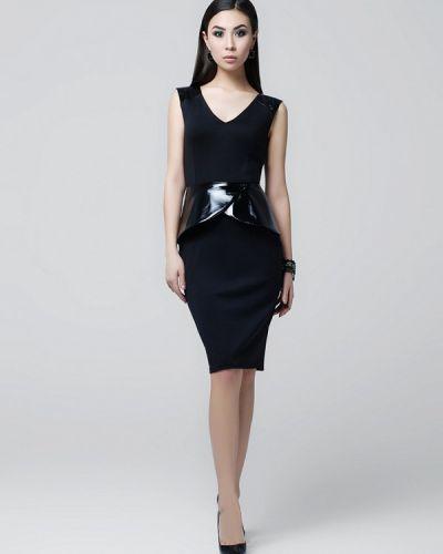 Черное платье весеннее A-dress