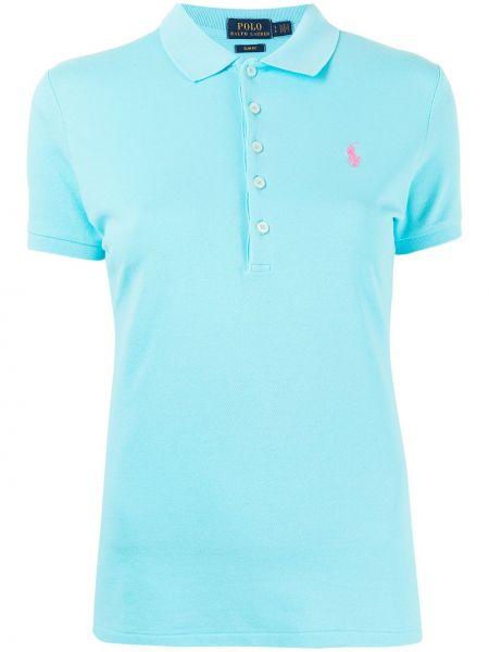 Niebieska koszula bawełniana krótki rękaw Polo Ralph Lauren