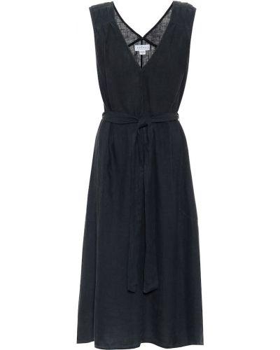 Синее легкое льняное платье Velvet
