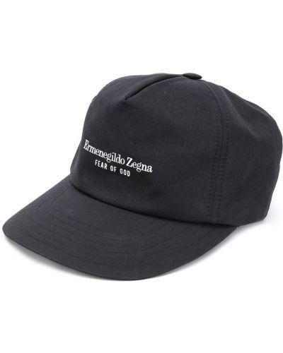 Bawełna bawełna czarny czapka z daszkiem Ermenegildo Zegna