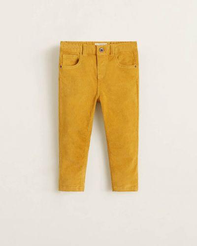 Брюки желтый велюровый Mango Kids