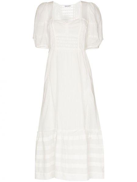 Платье миди с рукавами с кружевными рукавами Reformation