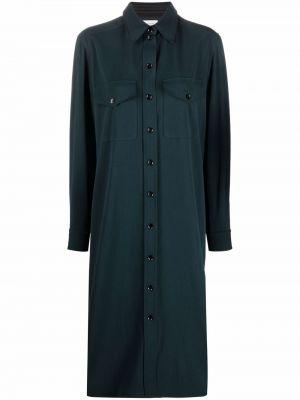Платье миди на пуговицах - синее Lemaire