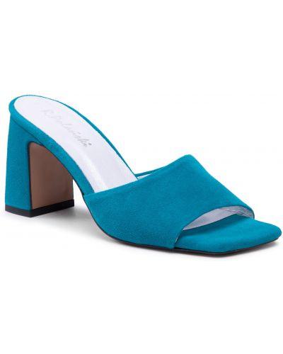 Niebieskie sandały zamszowe R.polański