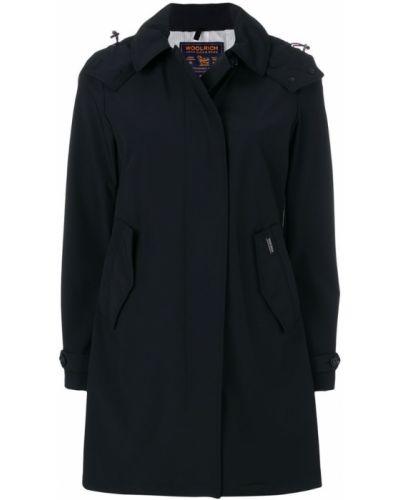 Пальто с капюшоном однобортное Woolrich