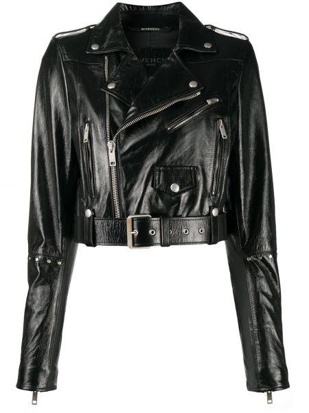 Czarny długa kurtka z mankietami z kieszeniami z długimi rękawami Givenchy