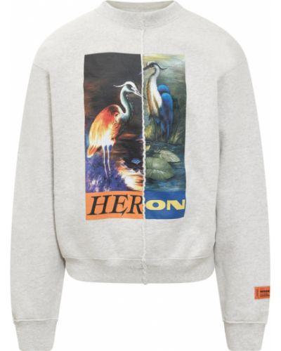 Szara bluza dresowa Heron Preston