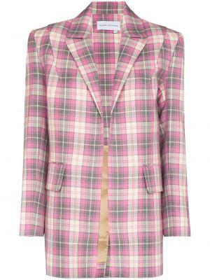 Розовый пиджак с лацканами Aleksandre Akhalkatsishvili