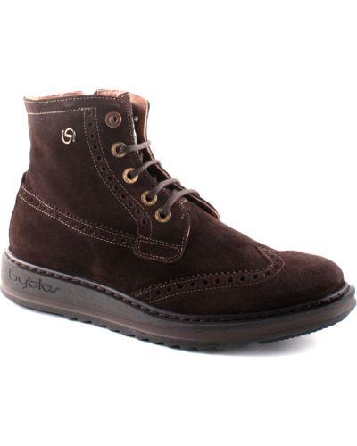 Ботинки осенние замшевые коричневый Byblos
