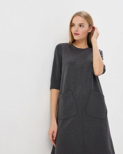 Платье серое осеннее Anastasia Kovall