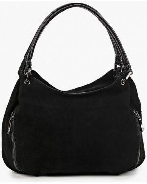 Кожаная сумка с ручками черная Valensiy