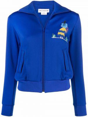 Синяя длинная куртка Comme Des Garçons Girl