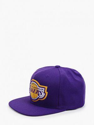 Фиолетовая бейсболка осенняя Mitchell & Ness