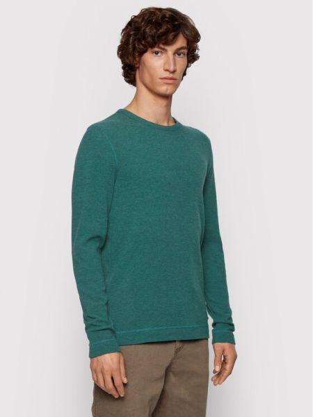 Zielony koszulka z długim rękawem Boss