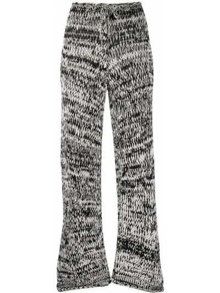 Черные трикотажные с завышенной талией брюки Mrz