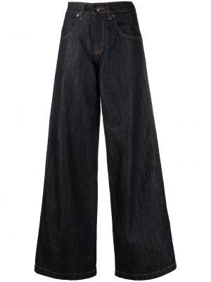 Синие широкие джинсы с карманами свободного кроя SociÉtÉ Anonyme