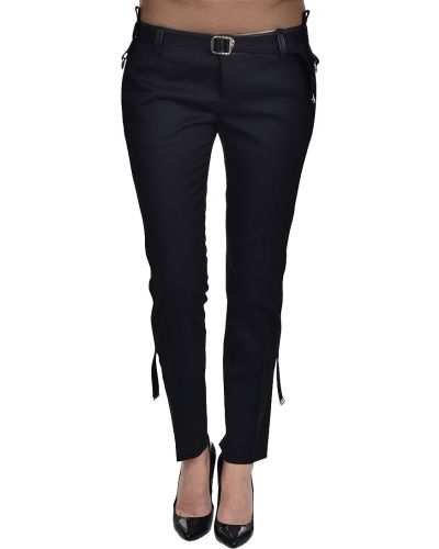 Шерстяные брюки - черные Dsquared2