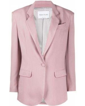 Розовый пиджак с карманами на пуговицах Hebe Studio