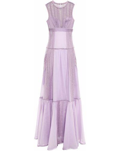 Хлопковое кружевное платье макси на крючках Charo Ruiz Ibiza
