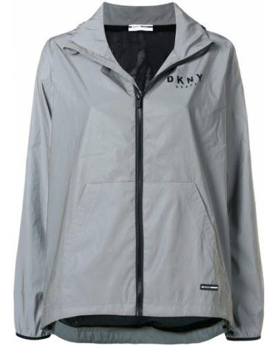 Куртка с капюшоном трансформер на молнии Donna Karan