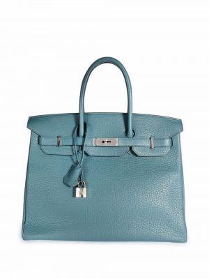 Синяя сумка с логотипом Hermès
