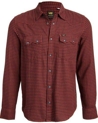 Хлопковая рубашка с длинными рукавами с карманами Lee