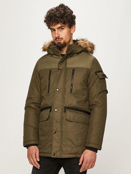 Куртка с капюшоном из искусственного меха с воротником Jack & Jones