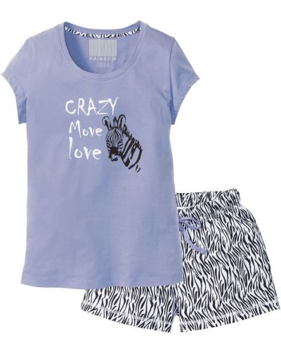 Пижама с шортами с рисунком Bonprix