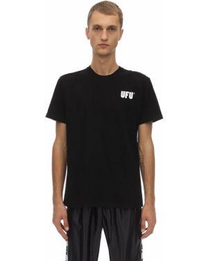 Czarny t-shirt bawełniany Ufu - Used Future
