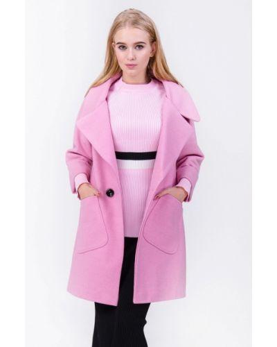 Розовое пальто осеннее Olko
