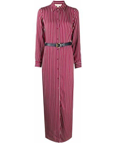 Красное классическое платье на пуговицах с воротником Michael Kors