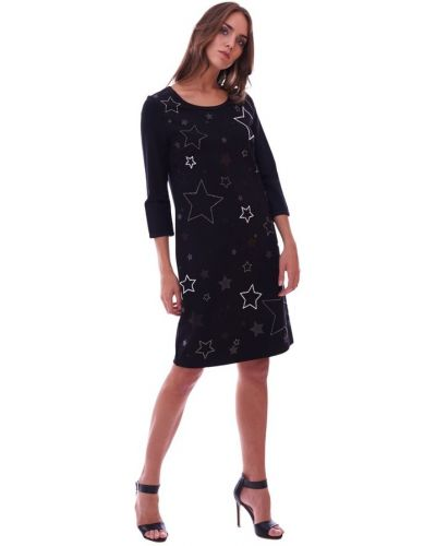 Czarna sukienka midi na co dzień Luckylu