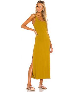 Платье миди в рубчик с разрезами по бокам Vitamin A