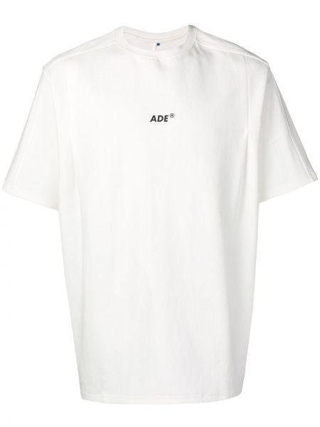 Koszula biała z nadrukiem Ader Error