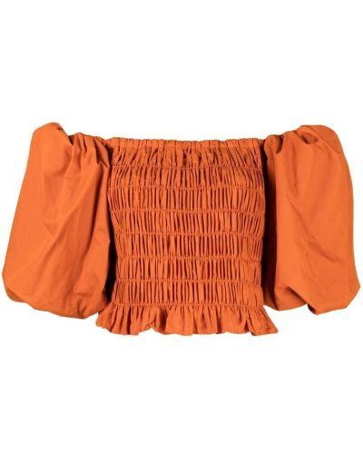 Оранжевый хлопковый открытый топ Wandering