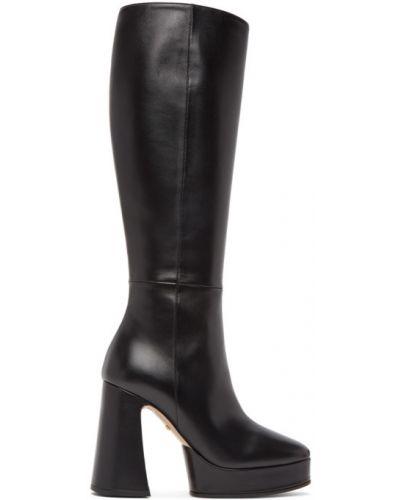Czarny buty w połowie kolana Gucci