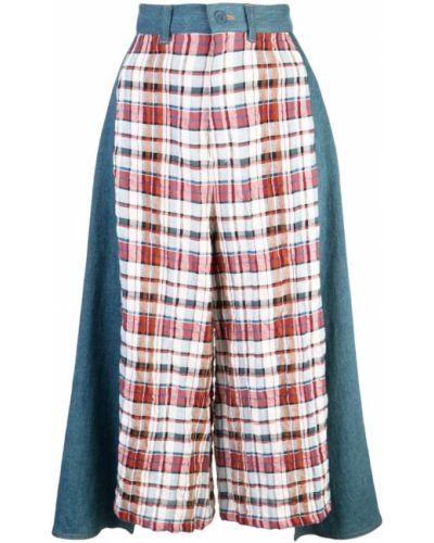 Пальто пэчворк с поясом Tsumori Chisato
