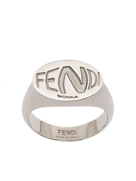 Pierścionek srebrny Fendi