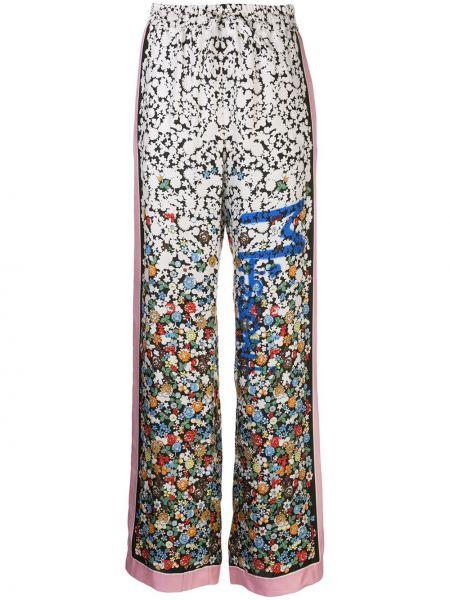Спортивные брюки свободные в цветочный принт M Missoni
