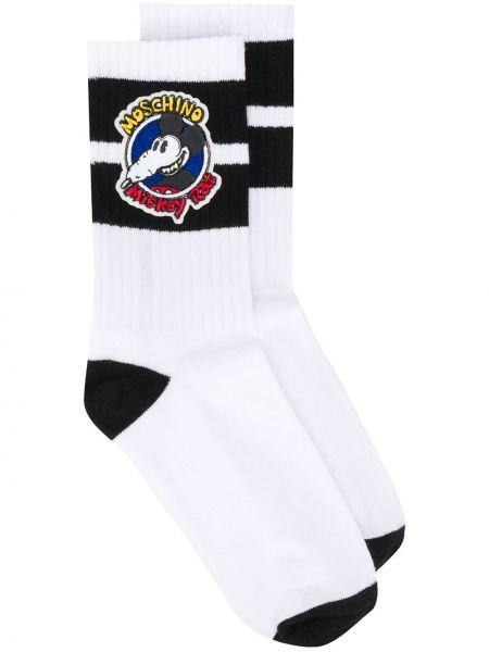 Белые носки Moschino