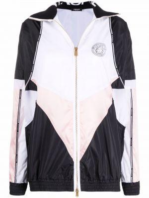 Черная длинная куртка двусторонняя с воротником Versace