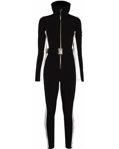 Czarny garnitur z długimi rękawami klamry Cordova