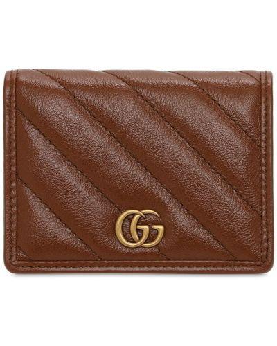 Skórzany portfel z gniazdem z kieszeniami Gucci