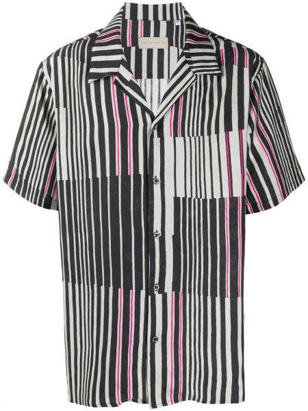 Koszula krótkie z krótkim rękawem w paski z paskami Paura
