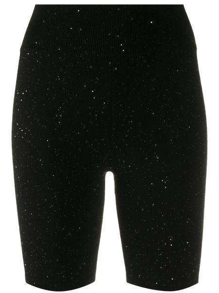 Черные шорты эластичные Area